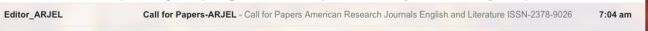 predatory publisher email